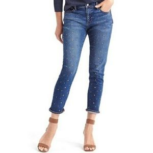 GAP Star Studded Best Girlfriend Mid Rise Jeans 👖
